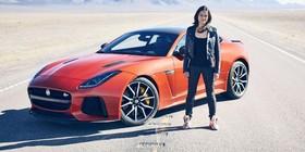 Michelle Rodríguez se pone a 323 km/h con el Jaguar F-Type SVR
