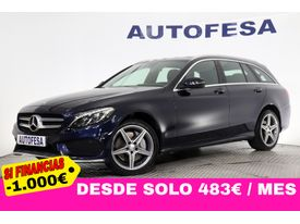 MERCEDES-BENZ Clase C ESTATE 250 CDI AMG LINE 204cv 5p 4Matic S/S # IVA DEDUCIBLE, NAVY, TECHO, CUERO
